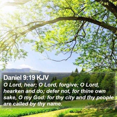 Daniel 9:19 KJV Bible Verse Image