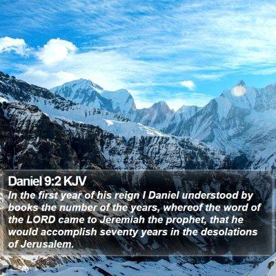 Daniel 9:2 KJV Bible Verse Image