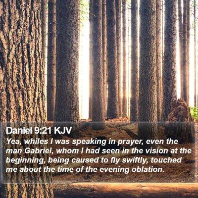 Daniel 9:21 KJV Bible Verse Image