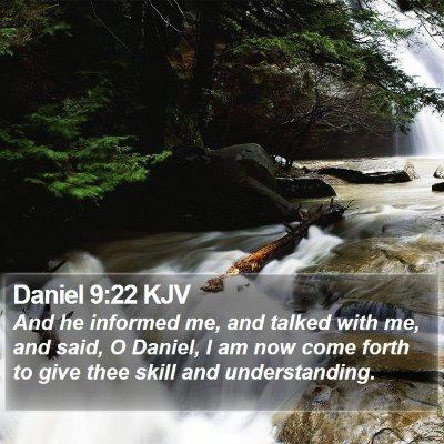 Daniel 9:22 KJV Bible Verse Image