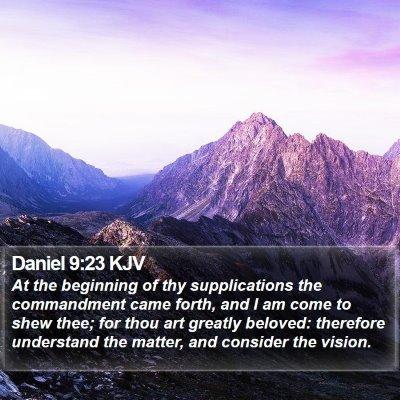 Daniel 9:23 KJV Bible Verse Image