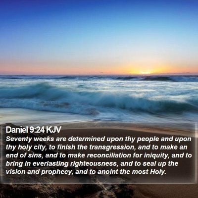 Daniel 9:24 KJV Bible Verse Image