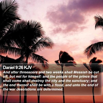 Daniel 9:26 KJV Bible Verse Image
