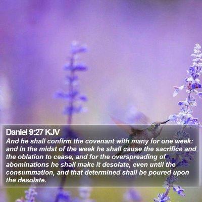 Daniel 9:27 KJV Bible Verse Image
