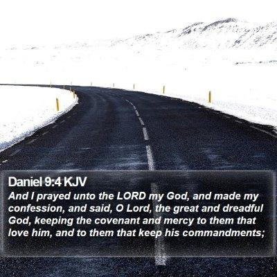 Daniel 9:4 KJV Bible Verse Image