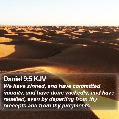 Daniel 9:5 KJV Bible Verse Image