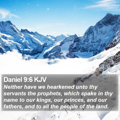Daniel 9:6 KJV Bible Verse Image