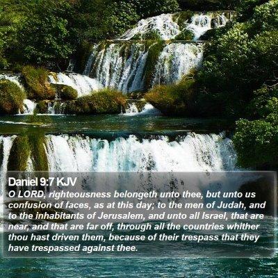 Daniel 9:7 KJV Bible Verse Image
