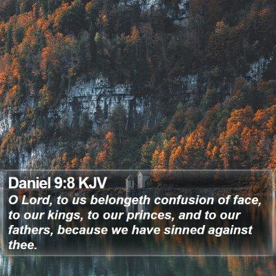 Daniel 9:8 KJV Bible Verse Image