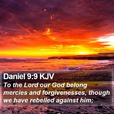 Daniel 9:9 KJV Bible Verse Image