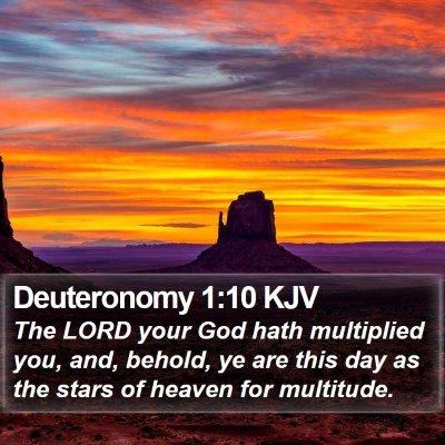 Deuteronomy 1:10 KJV Bible Verse Image