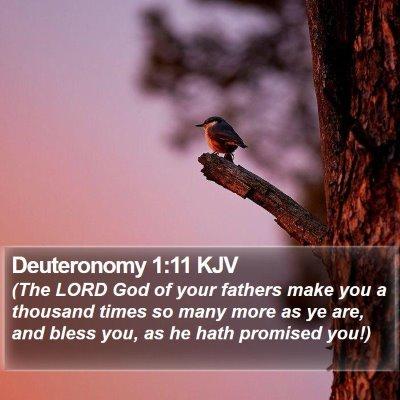 Deuteronomy 1:11 KJV Bible Verse Image