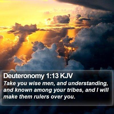 Deuteronomy 1:13 KJV Bible Verse Image