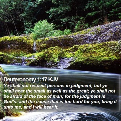 Deuteronomy 1:17 KJV Bible Verse Image