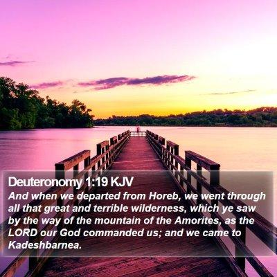 Deuteronomy 1:19 KJV Bible Verse Image