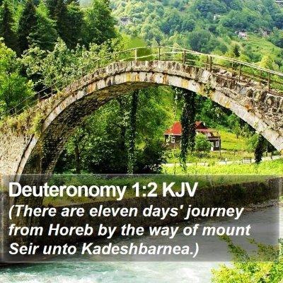 Deuteronomy 1:2 KJV Bible Verse Image