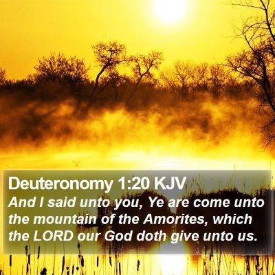 Deuteronomy 1:20 KJV Bible Verse Image