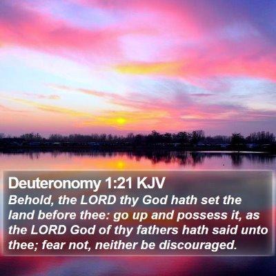 Deuteronomy 1:21 KJV Bible Verse Image