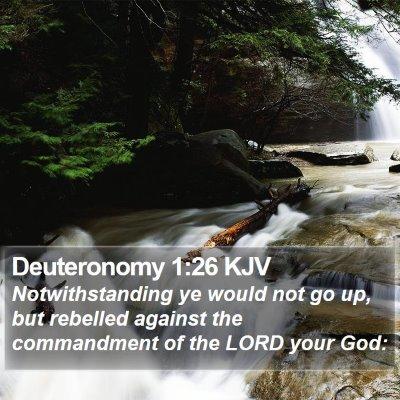 Deuteronomy 1:26 KJV Bible Verse Image