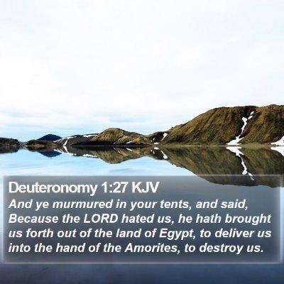 Deuteronomy 1:27 KJV Bible Verse Image
