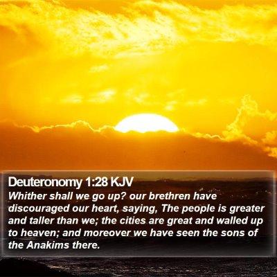 Deuteronomy 1:28 KJV Bible Verse Image