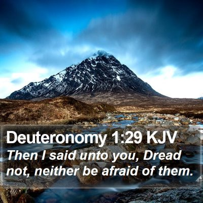 Deuteronomy 1:29 KJV Bible Verse Image