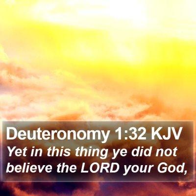 Deuteronomy 1:32 KJV Bible Verse Image