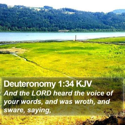 Deuteronomy 1:34 KJV Bible Verse Image