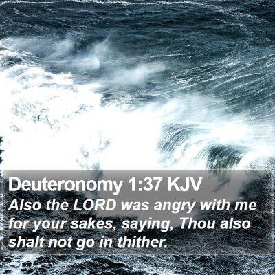 Deuteronomy 1:37 KJV Bible Verse Image