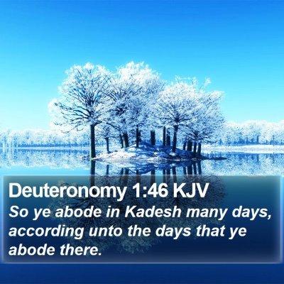 Deuteronomy 1:46 KJV Bible Verse Image