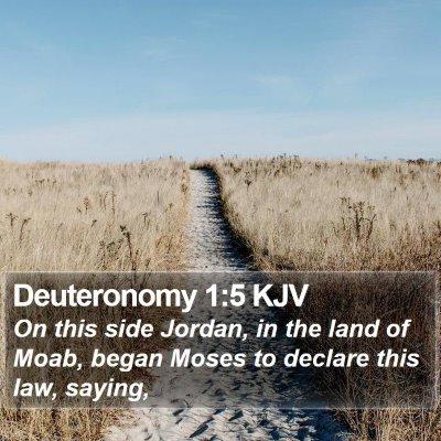 Deuteronomy 1:5 KJV Bible Verse Image