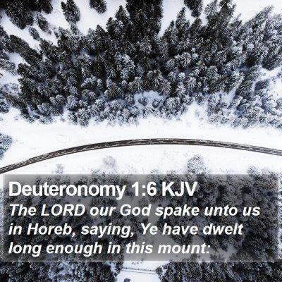 Deuteronomy 1:6 KJV Bible Verse Image