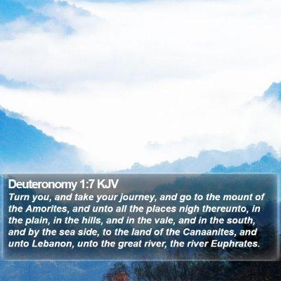Deuteronomy 1:7 KJV Bible Verse Image