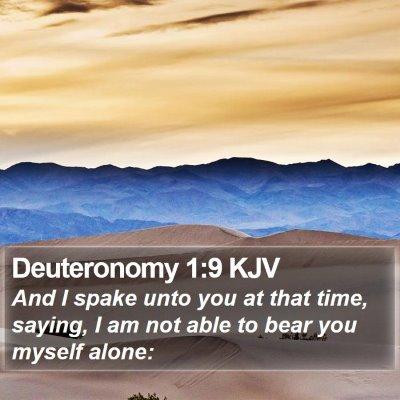 Deuteronomy 1:9 KJV Bible Verse Image