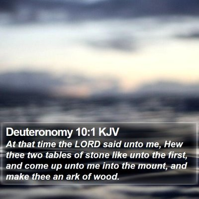 Deuteronomy 10:1 KJV Bible Verse Image