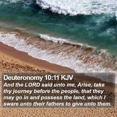 Deuteronomy 10:11 KJV Bible Verse Image