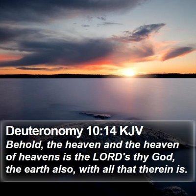 Deuteronomy 10:14 KJV Bible Verse Image