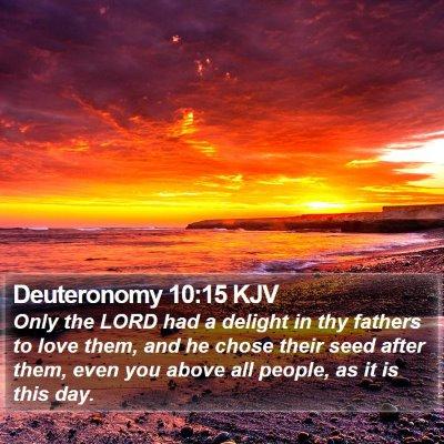 Deuteronomy 10:15 KJV Bible Verse Image