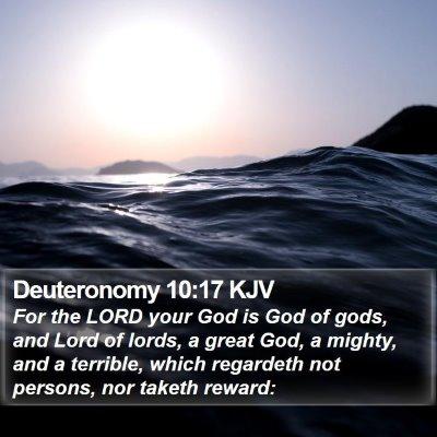 Deuteronomy 10:17 KJV Bible Verse Image