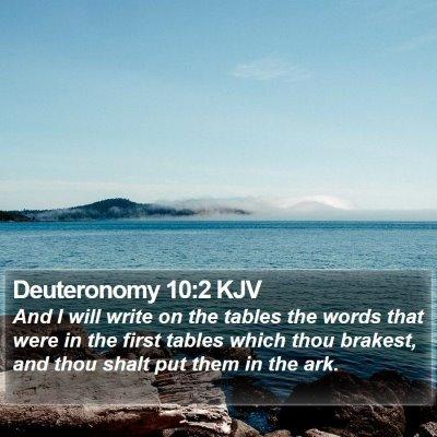 Deuteronomy 10:2 KJV Bible Verse Image