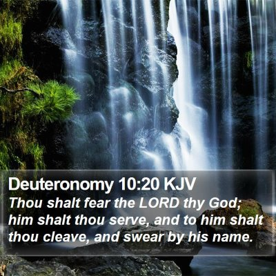 Deuteronomy 10:20 KJV Bible Verse Image