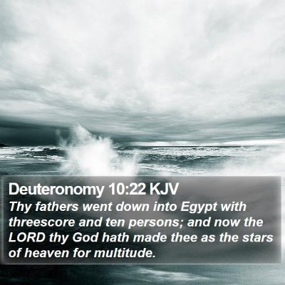 Deuteronomy 10:22 KJV Bible Verse Image