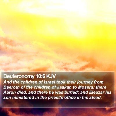 Deuteronomy 10:6 KJV Bible Verse Image