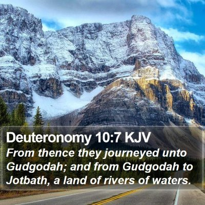 Deuteronomy 10:7 KJV Bible Verse Image