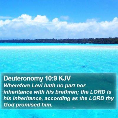 Deuteronomy 10:9 KJV Bible Verse Image