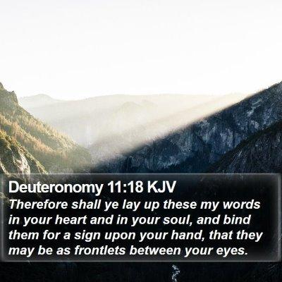 Deuteronomy 11:18 KJV Bible Verse Image