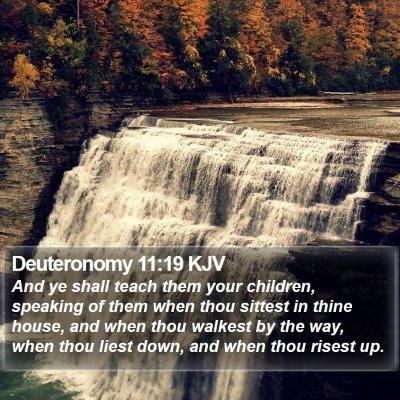 Deuteronomy 11:19 KJV Bible Verse Image