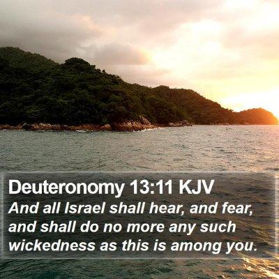 Deuteronomy 13:11 KJV Bible Verse Image