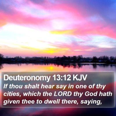 Deuteronomy 13:12 KJV Bible Verse Image