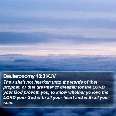 Deuteronomy 13:3 KJV Bible Verse Image